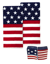Load image into Gallery viewer, American Flag Dishtowels with US Flag Salt and Pepper Shakers