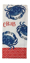 Load image into Gallery viewer, Crab Kitchen Dish Towel with 2 Potholders
