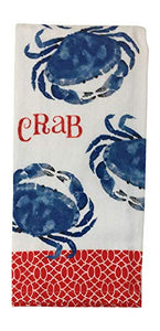 Crab Kitchen Dish Towel with 2 Potholders