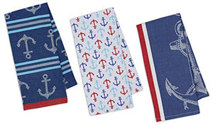 Nautical Anchor Themed  Kitchen Towels Set
