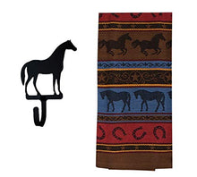 Load image into Gallery viewer, Western Dish Towel with Horse Shaped Magnetic Hook