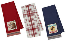 Load image into Gallery viewer, Western Kitchen Towels Set with Cowboy Hat and Boot Towel,  Horse Print and Plaid Towel