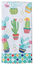 Load image into Gallery viewer, Cactus Themed Decorative Cotton Kitchen Towel Set