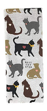 Load image into Gallery viewer, REX AND ROVER Cat Kitchen Gifts - Cotton Dish Towel with Black Cat Shaped Magnetic Hook - 2 Piece Set for Men or Women