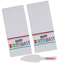 Load image into Gallery viewer, Happy Birthday Kitchen Towels Set with Cake Cutter