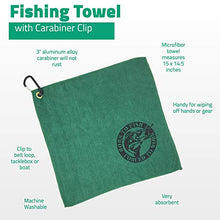Load image into Gallery viewer, Fishing Mug 16 oz with 15 Inch Fisherman Bait Towel and Fish Mug