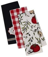 Load image into Gallery viewer, Italian Themed Decorative Cotton Kitchen Towels | 3 Towel Set for Dish and Hand Drying