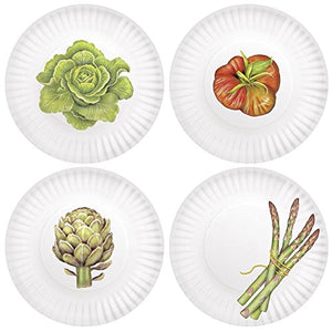 Veggies 7.5-inch Melamine Plates, Set of 4