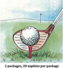 Load image into Gallery viewer, Cocktail Napkins, Set of 4, Golf Themes