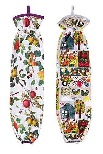 Fabric Grocery Bag Keeper - Set of 2
