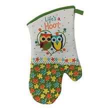 Load image into Gallery viewer, Owl Potholders and Oven Mitt