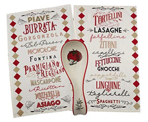 Italian Dish Towels Set with Spoon Rest