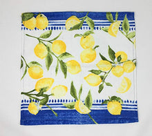 Load image into Gallery viewer, Striped Lemon Kitchen Towels with Matching Dishcloths