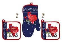 Load image into Gallery viewer, Home Sweet Texas Potholders Oven Mitt and Magnetic Hanging Hooks