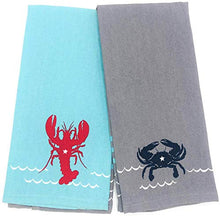 Load image into Gallery viewer, Live Salty Lobster & Crab Kitchen Towels
