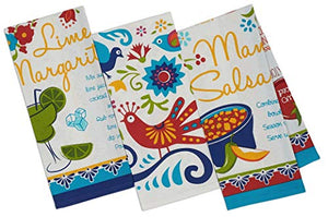 Mexican Food Theme Baja Cantina Kitchen Towel Four Pack