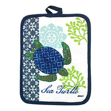Load image into Gallery viewer, Sea Turtle Potholders and Oven Mitt