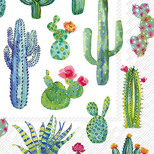 Cocktail Napkins, set of 4 Cactus and Succulent Themes