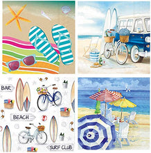 Load image into Gallery viewer, Cocktail Napkins, set of 4 Beach & Summer Themes