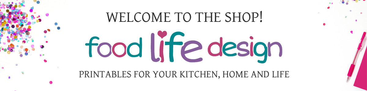 Welcome to the Food Life Design Shop!