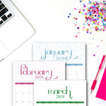 2019 Printable Calendar | Seasonal Designs