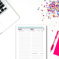 Printable Business Income/Expense Report