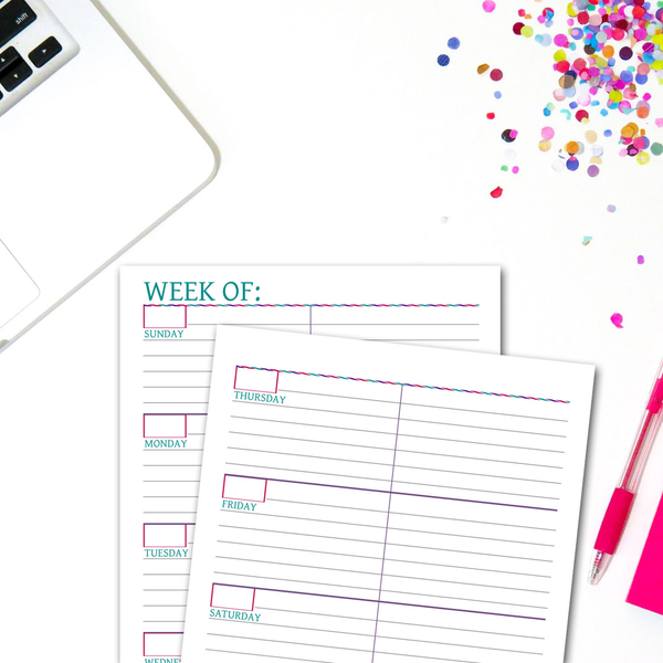 Weekly Planner Printable | Lined