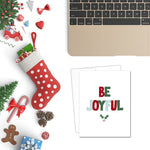 Be Joyful | Printable Christmas Card