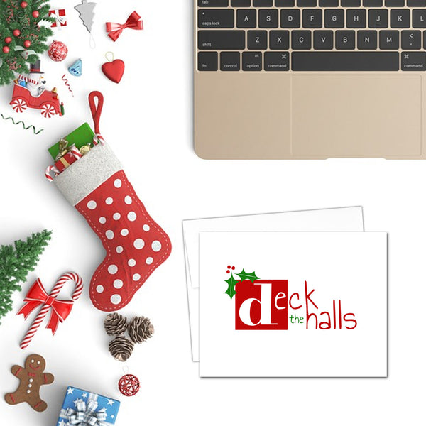Deck the Halls | Printable Christmas Card