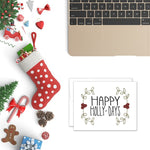 Happy Holly-Days | Printable Christmas Card