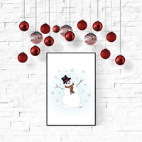 Snowman Wall Art Printable