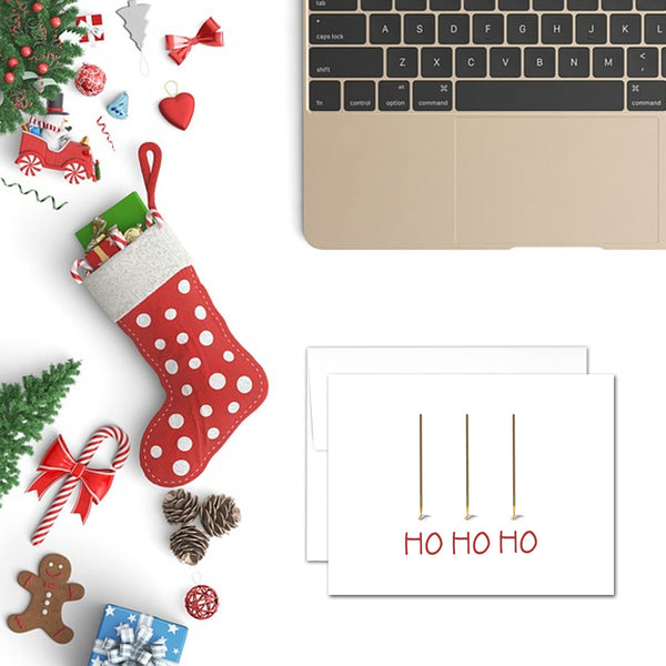 Ho Ho Ho | Printable Christmas Card