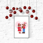 Puppy Love Christmas Wall Art Printable