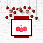 Christmas Ornaments Wall Art Printable