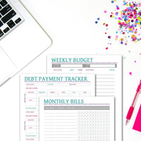 Printable Weekly Budget Planner Set