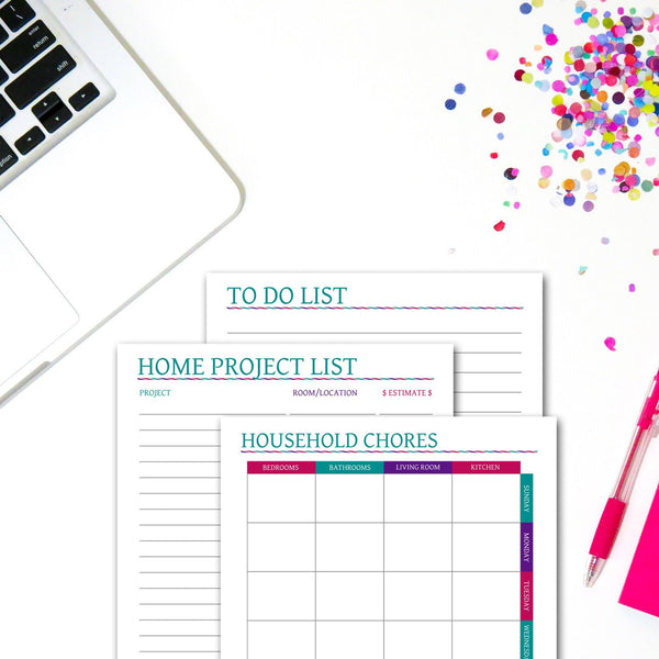 Printable Household Planner Set