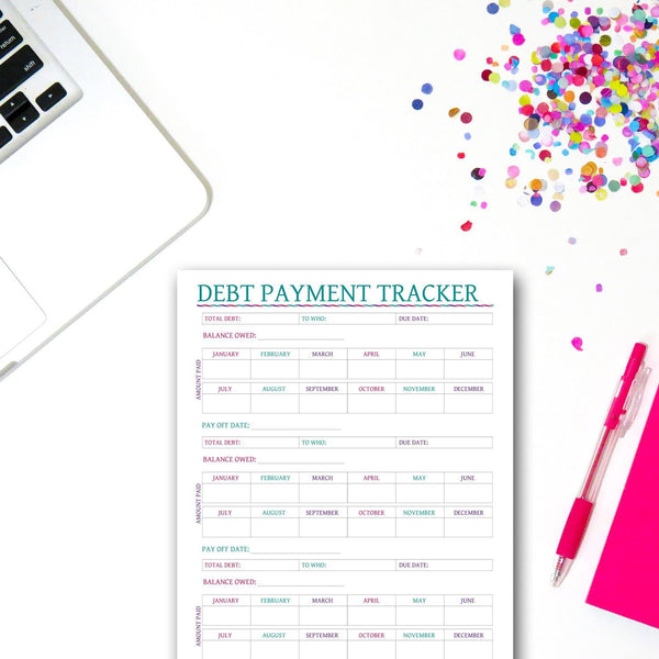 Printable Debt Payment Tracker
