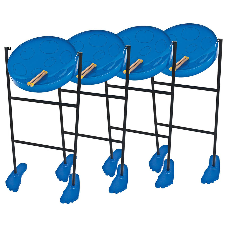 Pack of 4 Jumbie Jam steel pans - Blue