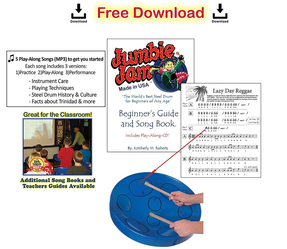 Jumbie Jam steel pan - Blue