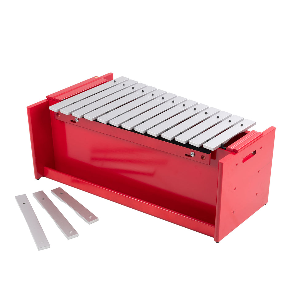 Classic red box bass diatonic metallophone