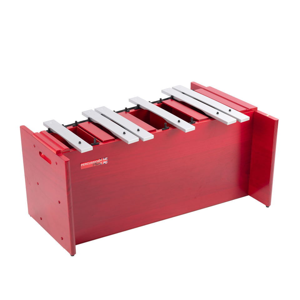Classic red box bass metallophone - chromatic half