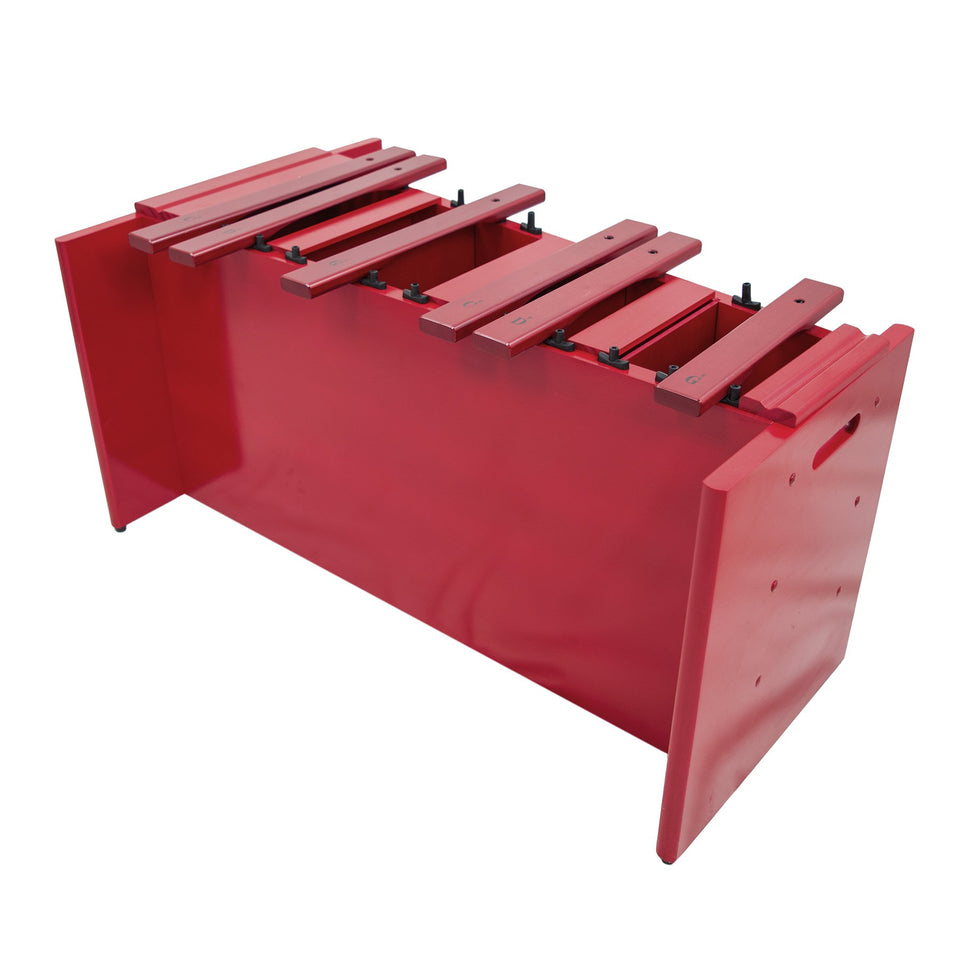 Classic red box bass xylophone chromatic half only