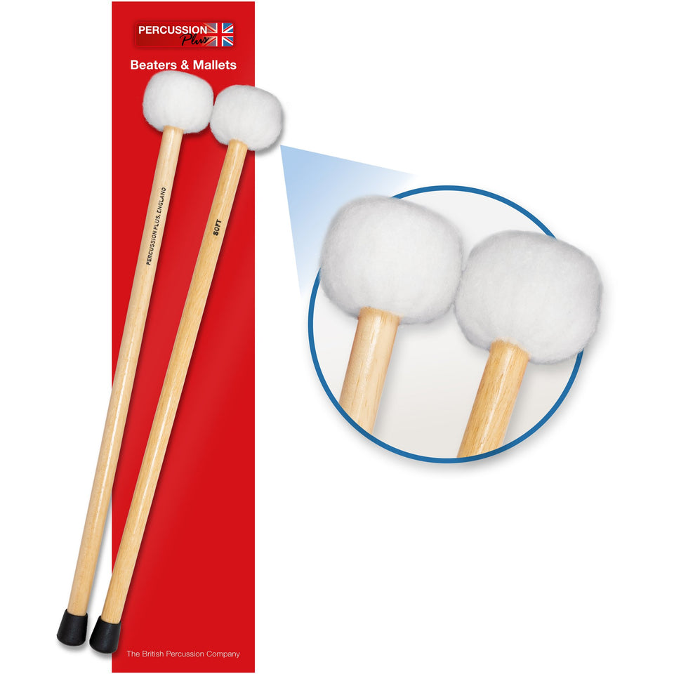 Soft timpani mallets