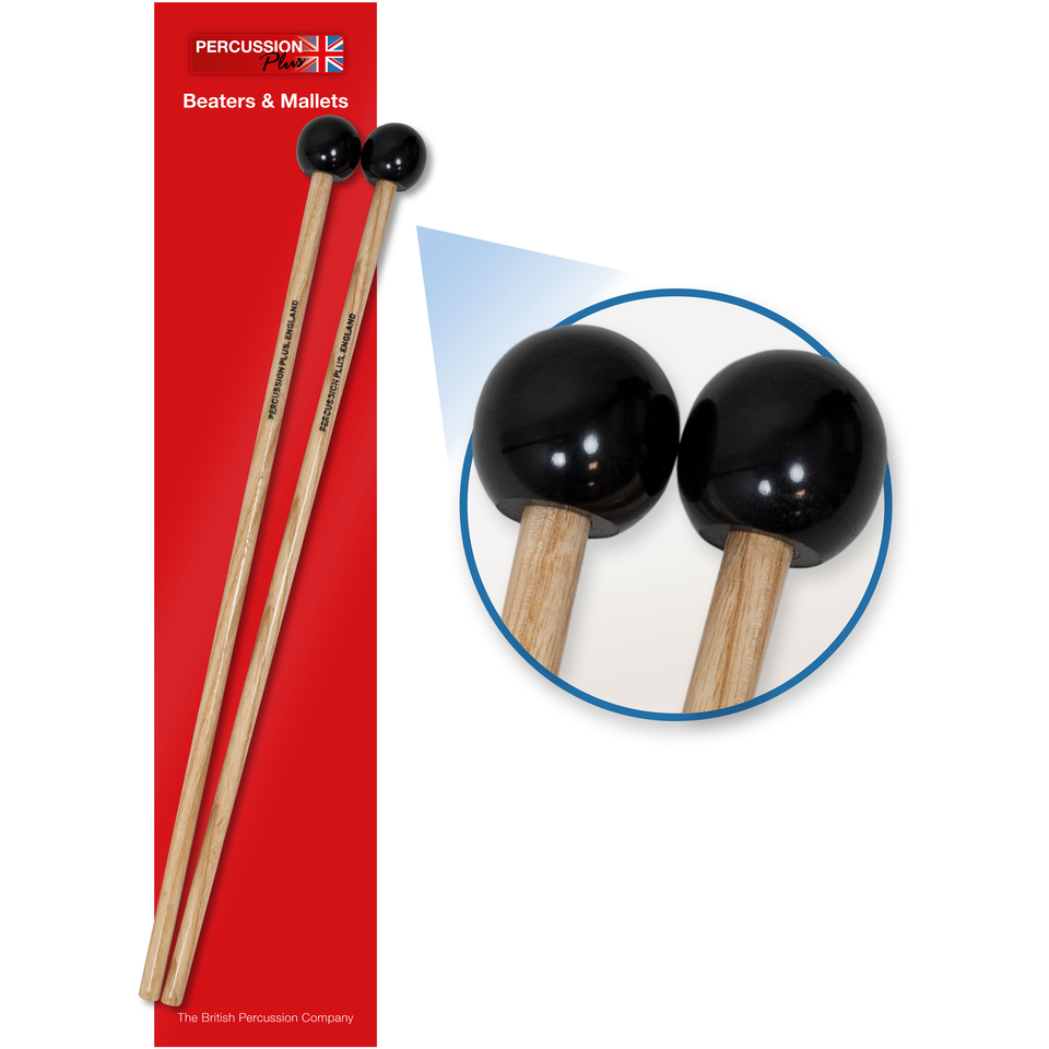 Pair of professional plastic mallets - hard
