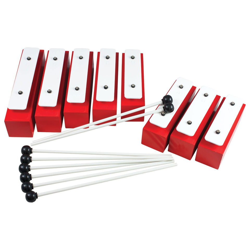 8 note chime bar set supplied with 8 beaters