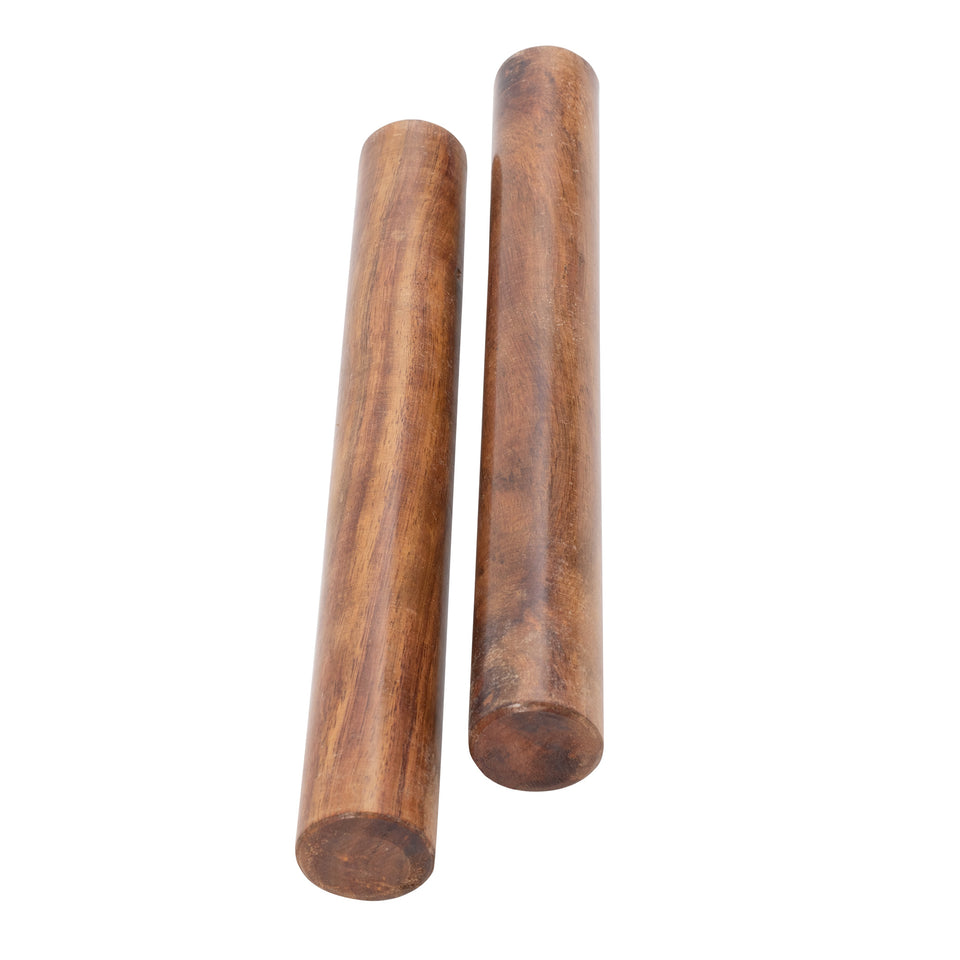 Pair of sheesham wood claves