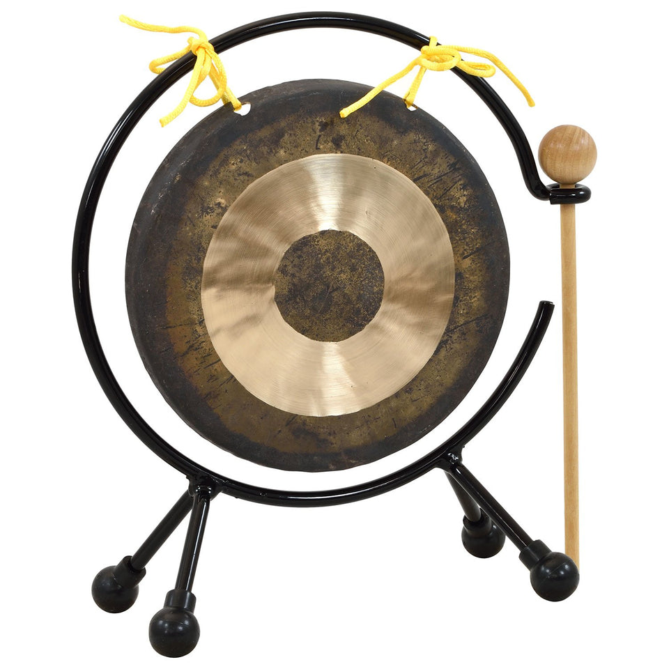 16cm mini traditional Chinese chau gong with stand