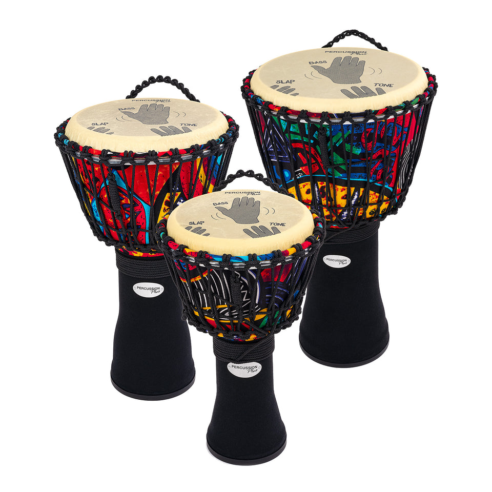 Slap Djembe packs - rope tuned - 3 pack