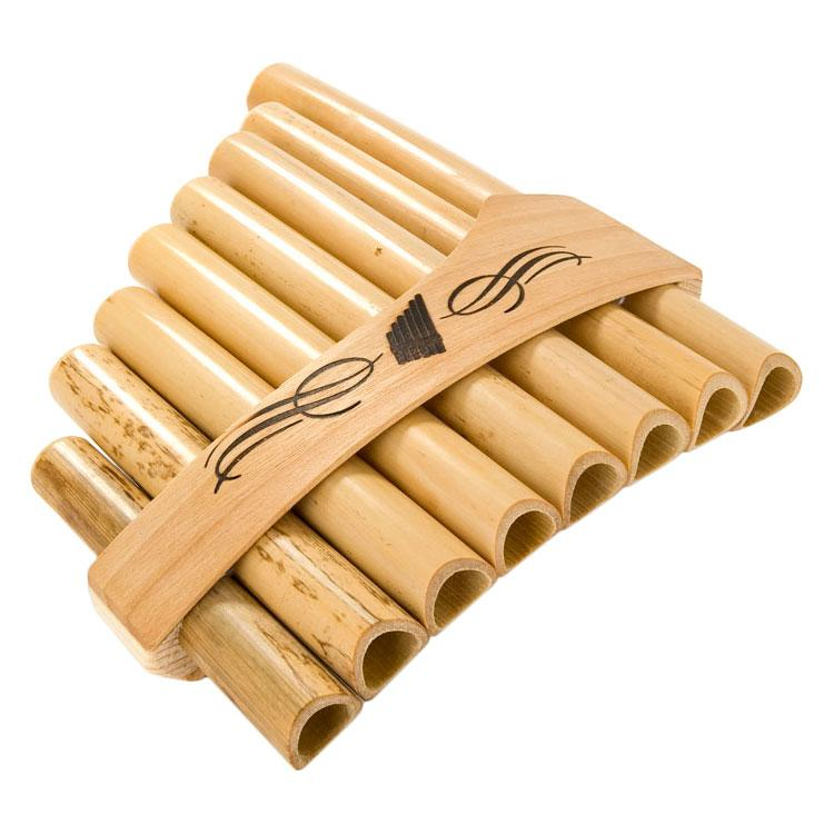 Pan flute with 8 notes- bamboo