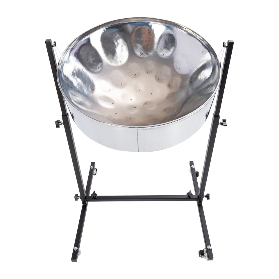 Percussion Plus Import Series lead steel pan, chrome finish